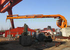 Marine Folding Boom Crane , Vessel Deck Hydraulic Boom Crane Space Saving
