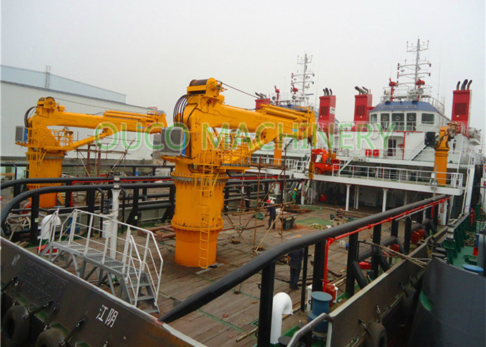 Hydraulic 30t Marine deck crane  with ABS Class and advanced components