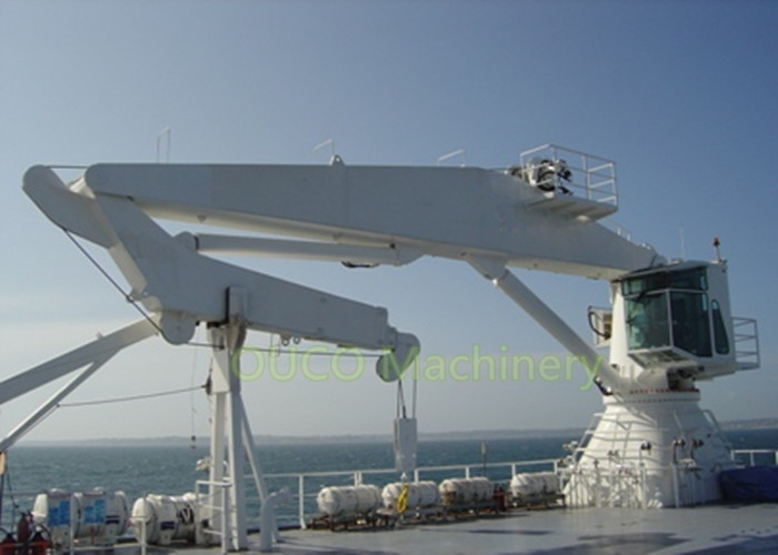 Hydraulic 6T Marine Deck Crane Folding Knuckle Boom Crane And Advanced Components