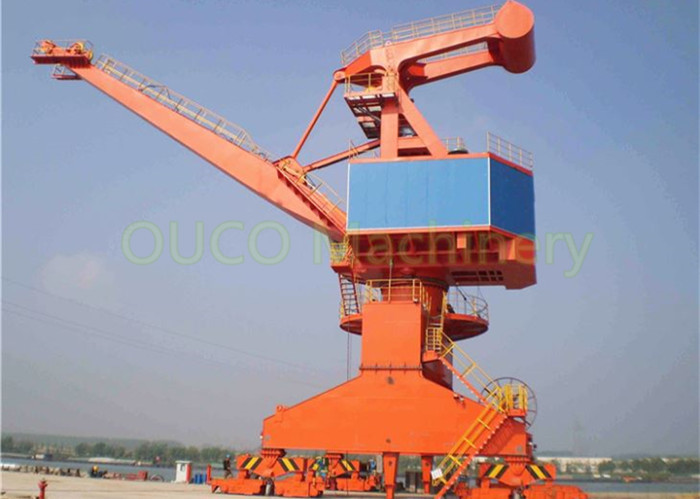 25 Ton Port Crane Harbour Electrical Stationary Space Saving Small Installation Area