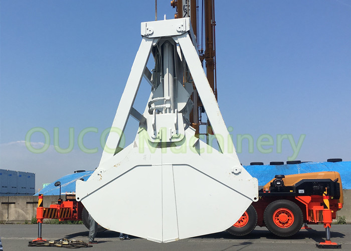 Clamshell Unloading Grab Bucket with wireless remote control  material handling