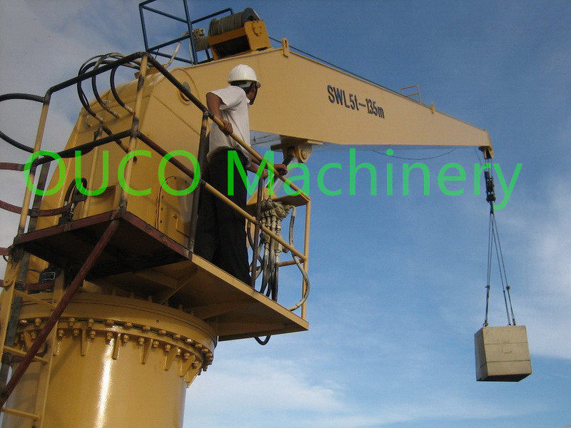 Simple Design Stiff Boom Crane With Hydraulic System , Easy Maintenance