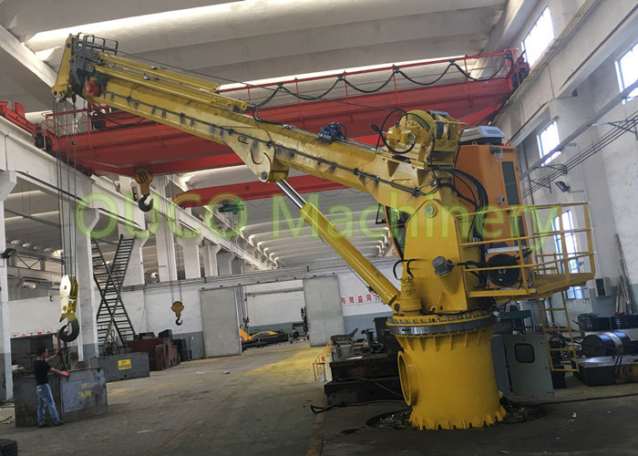 Ship Marine 15T Folding Crane With Electric Hydraulic System