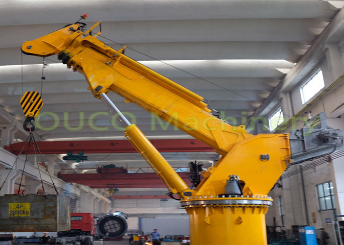 8t 15m Electro Hydraulic Telescoping Boom Crane Lifting Cargoes