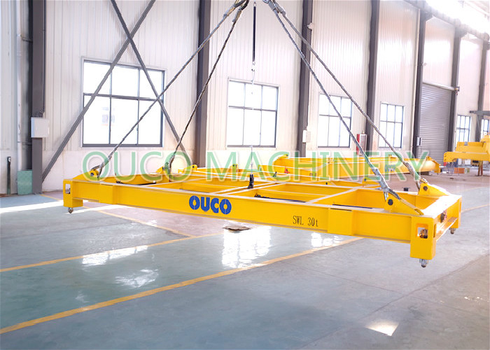 Steel Semi Automatic 20ft Container Spreader For Port