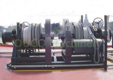 Fixed Marine Deck Winches , Hydraulic Combination Windlass Mooring Winch