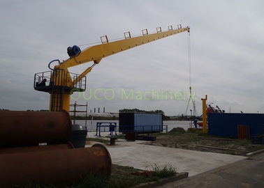 Mini Marine Stiff Boom Crane Hydraulic Type Custom Color For Lifting Cargoes
