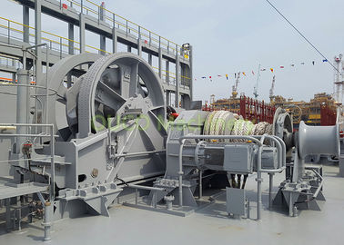Port Vessel Anchor Mooring Winch Easy Maintenance High Durability Running Smoothly