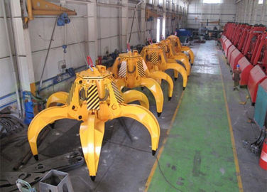 Orange Peel Scrap Handling Grabs Electric Hydraulic For Grabbing Granular Material