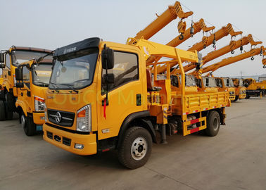 6 Tons Straight Arm Truck Mounted Boom Crane Grua With Telescopic Boom