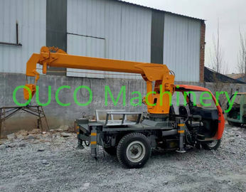 2 Ton Small Portable Truck Mounted Boom Crane With Outrigger , Long Life