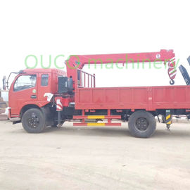 Mobile Hydraulic Telescopic Crane With Outrigger , Truck Mounted Jib Crane