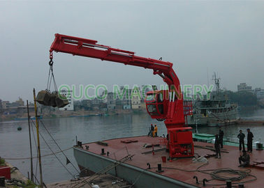 Telescopic And Knuckle Boom Folding Crane 5t20m Hydraulic Power System
