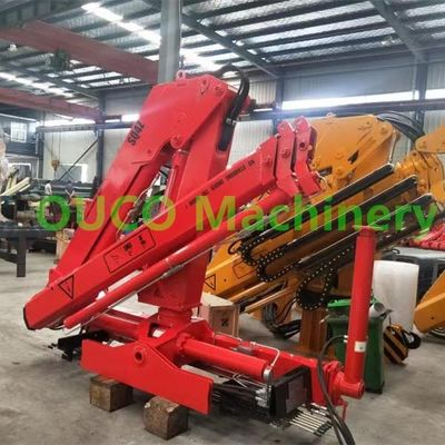 5T Hydraulic Telescopic Knuckle Boom Truck Mounted Crane