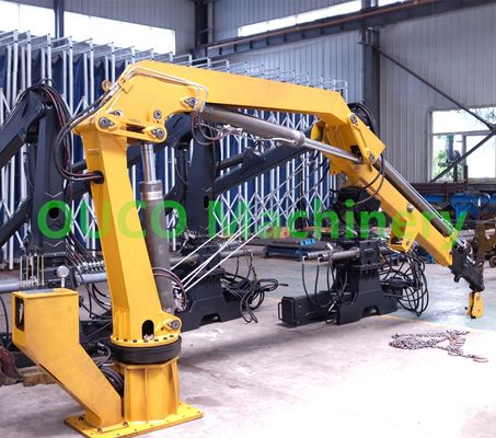 2 Ton Mobile Truck Mounted Knuckle Boom Cranes
