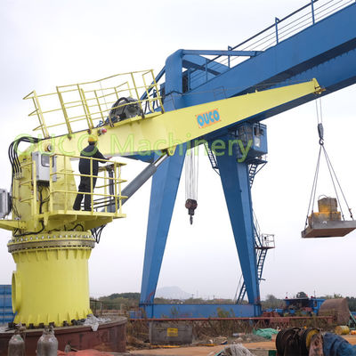 Marine Fixed boom Crane 15 Meter Rust Protection High Loading Efficiency